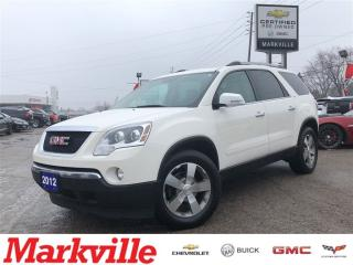 Used 2012 GMC Acadia SLT-LEATHER-ROOF-NAVI-GM CERTIFIED-1 OWNER for sale in Markham, ON