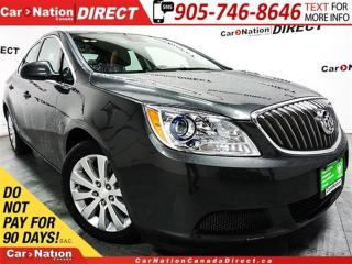 Used 2016 Buick Verano | LEATHER-TRIMMED SEATS| BACK UP CAM| LOCAL TRADE| for sale in Burlington, ON