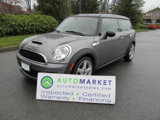 Used 2009 MINI Cooper Clubman S, 6Sp, INSP, FREE WARR, GREAT FINANCE OPTIONS for sale in Surrey, BC