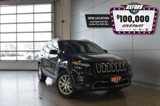 Used 2017 Jeep Cherokee Limited - 4x4, GPS, Sunroof, Back Up Cam for sale in London, ON