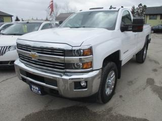 Used 2016 Chevrolet Silverado 3500 1-TON WORK READY LT MODEL 3 PASSENGER 6.0L - V8.. 4X4.. REGULAR CAB.. 8-FOOT BOX.. FACTORY WARRANTY.. BACK-UP CAMERA.. BLUETOOTH SYSTEM.. for sale in Bradford, ON