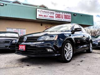 Used 2015 Volkswagen Jetta 2.0 TDI Highline TDI DIESEL!! LEATHER!! NAVI!! REVERSE CAMERA!! AUTOMATIC for sale in Bolton, ON