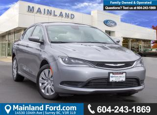 Used 2016 Chrysler 200 LX LOW KMS, BC LOCAL, ACCIDENT FREE for sale in Surrey, BC