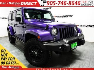 Used 2017 Jeep Wrangler Unlimited Sahara| 4X4| LEATHER-TRIMMED SEATS| NAVI| for sale in Burlington, ON