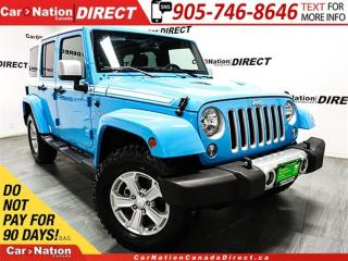 Used 2017 Jeep Wrangler Unlimited Sahara Chief Edition| NAVI| LEATHER| for sale in Burlington, ON