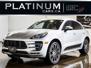 Used 2015 Porsche Macan TURBO, NAVI, PANO, BURMESTER SOUND, RED LTHR for sale in North York, ON