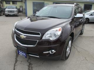Used 2011 Chevrolet Equinox LOADED LTZ MODEL 5 PASSENGER 3.0L - V6.. AWD.. LEATHER.. HEATED SEATS.. POWER SUNROOF.. PIONEER AUDIO.. AUX/USB INPUT.. for sale in Bradford, ON