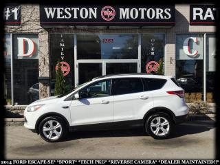 Used 2014 Ford Escape SE*SPORT*TECH PKG*REVERSE CAM*DEALER MAINTAINED!!* for sale in York, ON