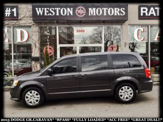 Used 2015 Dodge Grand Caravan SE*8PASS*FULLY LOADED*ACC FREE*GREAT DEAL!!* for sale in York, ON