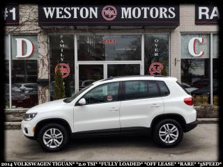 Used 2014 Volkswagen Tiguan 2.0 TSI*FULLY LOADED*OFF LEASE*RARE*5SPEED!!* for sale in York, ON