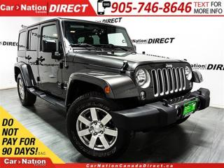 Used 2017 Jeep Wrangler Unlimited Sahara| NAVI| 4X4| LOW KM'S| for sale in Burlington, ON