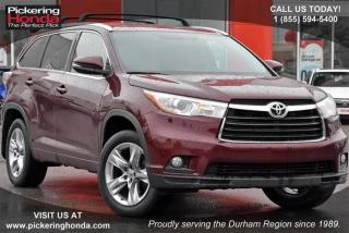 Used 2015 Toyota Highlander LTD AWD Accident Free|Bluetooth|Rearview Camera for sale in Pickering, ON