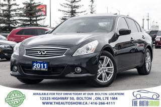 Used 2011 Infiniti G37X  AWD NAVI TECH PKG. CAMERA for sale in Caledon, ON