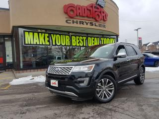 Used 2017 Ford Explorer Platinum 7 PASS NAVI POWER ROOF TAN LEATHER R-CAM for sale in Scarborough, ON