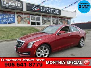 Used 2015 Cadillac ATS 2.0 Turbo Luxury  ROOF LEATHER CAMERA BOSE MEM HS BT PARK-SENS REMOTE for sale in St Catharines, ON