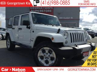 Used 2014 Jeep Wrangler Unlimited Sahara | NAVIGATION | CLEAN CARPROOF | for sale in Georgetown, ON