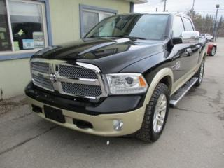 Used 2014 Dodge Ram 1500 LOADED LARAMIE - LONG HORN MODEL 5 PASSENGER 3.0L - DIESEL.. 4X4.. CREW.. SHORTY.. LEATHER.. NAVIGATION.. BACK-UP CAMERA.. POWER SUNROOF.. BLUETOOTH.. for sale in Bradford, ON