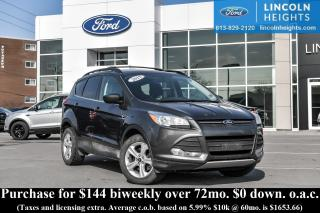 Used 2015 Ford Escape SE 4WD - BLUETOOTH - REAR PARKING AID SENSORS - NAV for sale in Ottawa, ON