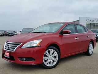 Used 2014 Nissan Sentra SL AWD w/all leather,NAV,rear cam,pwr moonroof,climate control for sale in Cambridge, ON
