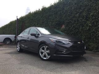 Used 2017 Chevrolet Cruze PREMIER AUTO + LEATHER HEATED FT SEATS + POWER DRIVER SEAT + ALLOYS for sale in Surrey, BC