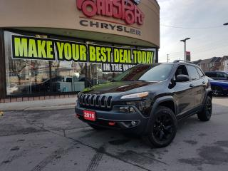 Used 2016 Jeep Cherokee Trailhawk V6 LTHR NAVI TOW PKG 2 YR MAINTNANCE PLA for sale in Scarborough, ON