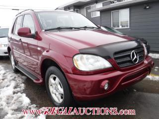 Used 2000 Mercedes-Benz M-CLASS SPORT 4D UTILITY AWD for sale in Calgary, AB