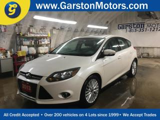 Used 2013 Ford Focus TITANIUM*NAVIGATION*LEATHER*POWER SUNROOF*BACK UP CAMERA*MICROSOFT SYNC PHONE CONNECT*KEYLESS ENTRY w/REMOTE START*POWER DRIVER SEAT*HEATED FRONT SEAT for sale in Cambridge, ON
