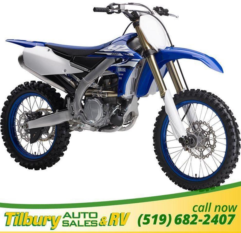 2018 Yamaha YZ450F 449 cc, DOHC, 4-valve, fuel injected engine