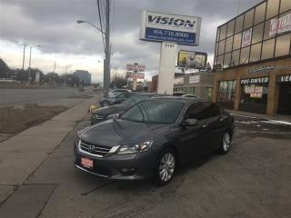 Used 2014 Honda Accord EX-L V6/BACK UP CAMERA/LANE DEPARTURE/SIDE CAMERA for sale in North York, ON