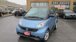 Used 2013 Smart fortwo pure/CLEAN CAR PROOF/HEATED SEATS/LOW KM for sale in North York, ON
