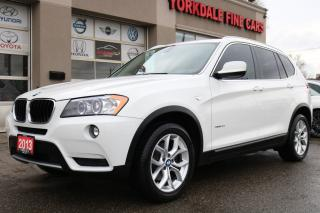Used 2013 BMW X3 xDrive28i Sport Line. Navi. Pano. White On Red for sale in North York, ON