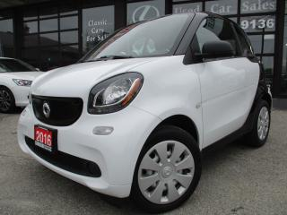 Used 2016 Smart fortwo coupe CPE-ONE OWNER-AUTO-BLUETOOTH for sale in Scarborough, ON