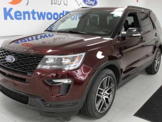 Used 2018 Ford Explorer Sport 4WD ecoboost, NAV, sunroof, heated/cooled power leather seats, heated steering wheel, power liftgate, power third row seats for sale in Edmonton, AB