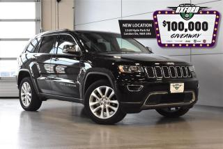 Used 2017 Jeep Grand Cherokee Limited - v6, 4x4, Back Up Cam, Parksense for sale in London, ON