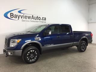 Used 2017 Nissan Titan XD - HITCH! HTD/AC LEATHER! NAV! NISSAN CONNECT! TOW/HAUL! for sale in Belleville, ON