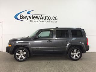 Used 2017 Jeep Patriot Sport/North - 4x4! ALLOYS! SUNROOF! HTD LEATHER! U-CONNECT! for sale in Belleville, ON