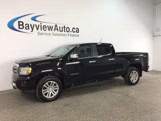 Used 2016 GMC Canyon SLT - DURAMAX! REMOTE START! HTD LTHR! NAV! for sale in Belleville, ON