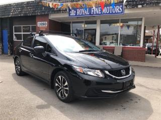 Used 2014 Honda Civic Sedan EX,PushStart,SideCameras,Sunroof,Alloys,Warranty for sale in York, ON