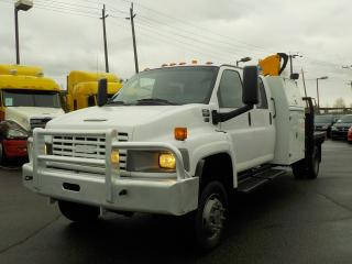 Used 2005 GMC C5500 Crew Cab Flat Deck With Crane Duramax Diesel 4X4 for sale in Burnaby, BC