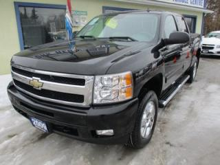 Used 2009 Chevrolet Silverado 1500 LOADED LTZ MODEL 5 PASSENGER 5.3L - V8.. 4X4.. CREW.. SHORTY.. LEATHER.. HEATED SEATS.. CD/AUX INPUT.. TRAILER BRAKE.. for sale in Bradford, ON