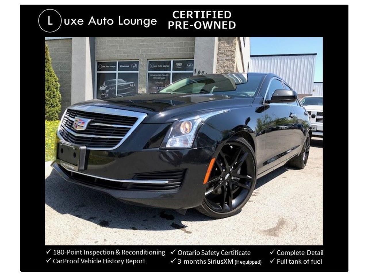2015 Cadillac ATS TURBO 6SPD! SUNROOF, 19 INCH GLOSS BLACK WHEELS!