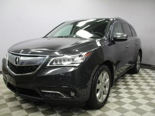Used 2016 Acura MDX Elite SH-AWD 7 Seats - Local One Owner Trade In | No Accidents | Factory Remote Starter | Navigation | Back Up Camera | Birds Eye View Camera | Rear DVD | Heated/Cooled Front Seats | Heated Rear Seats | 3 Zone Climate Control with AC | Memory Seat | Parki for sale in Edmonton, AB