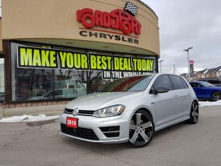 Used 2016 Volkswagen Golf R NAVI 296 hp 4MOTION LTHR H-TED CLEAN CARPROOF for sale in Scarborough, ON