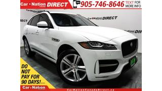 Used 2017 Jaguar F-PACE 20d R-Sport| DIESEL| RED LEATHER| PANO ROOF| NAVI| for sale in Burlington, ON