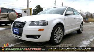 Used 2008 Audi A3 2.0|ALLOYS|LEATHER|SUNROOF|HEATED SEATS|CERTIFIED for sale in Oakville, ON