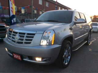 Used 2012 Cadillac Escalade ESV Backup-cam/Leather /Sunroof /EXTRA CLEAN !!! for sale in Scarborough, ON