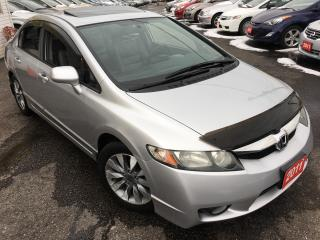 Used 2011 Honda Civic EX-L/AUTO/LEATHER/SUNROOF/ALLOYS/FULLY LOADED! for sale in Scarborough, ON