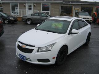 Used 2012 Chevrolet Cruze LT Turbo SUN ROOF for sale in Smiths Falls, ON