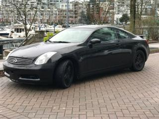 Used 2005 Infiniti G35 6SP MANUAL ,NEW CLUTCH ,LOW KM for sale in Vancouver, BC