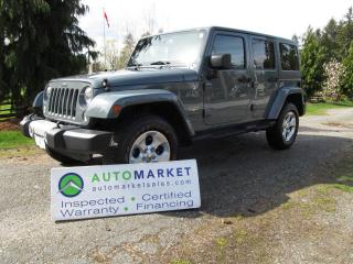 Used 2014 Jeep Wrangler Unlimited Sahara 4WD WARRANTY, FINANCE for sale in Surrey, BC